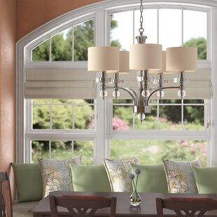 Winston Porter Montecello 5-Light Shaded Chandelier