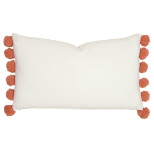 Santori Splash Pom-Pom Ball Trim Lumbar Pillow