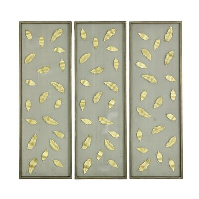 Ab home 3 piece chandelier wall dcor set reviews wayfair winchendon leaves wall dcor set set of 3 aloadofball Image collections