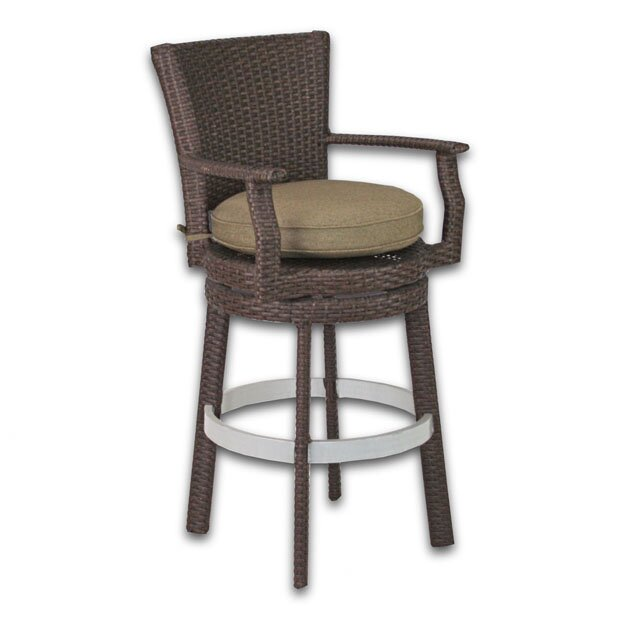 "Signature 27.75"" Patio Bar Stool with Cushion"