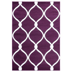 Find the perfect Fishback Plum/White Area Rug By Ebern Designs