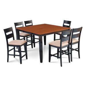 Charlestown 7 Piece Hardwood Counter Height Dining Set by Alcott Hill