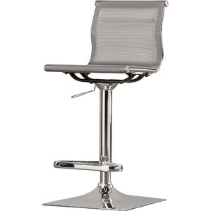 Emmaline Adjustable Height Swivel Bar Stool by Latitude Run