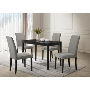 Keck 5 Piece Solid Wood Dining Set