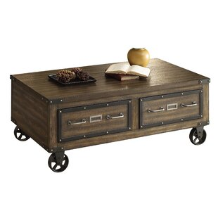17 Stories Aveline Wood Coffee Table with..