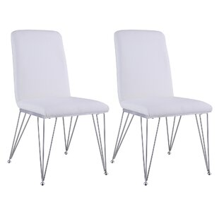 Noah Upholstered Dining Chair (Set Of 2) by Orren Ellis Bargain