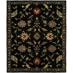 Trend Pranay Hand Knotted Wool Black Area Rug ByDarby Home Co