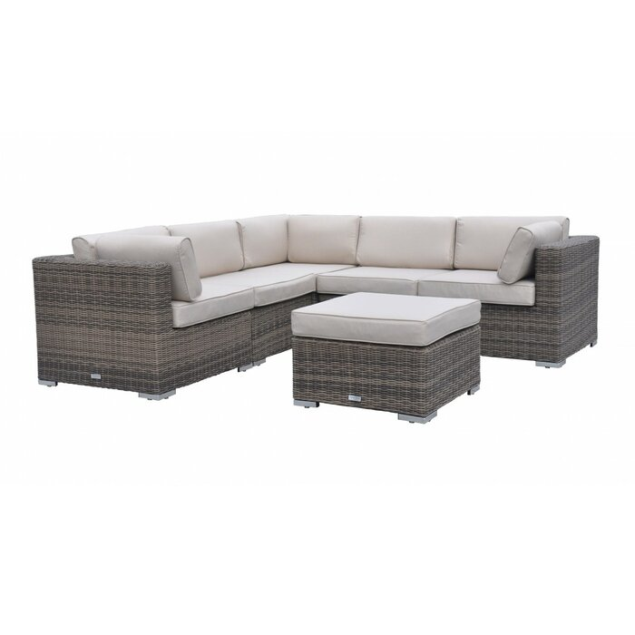 meet 3fd78 23b52 Anastasia 6 Seater Rattan Corner Sofa Set with Cushion