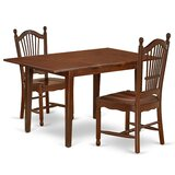 Bergh 3 Piece Extendable Solid Wood Dining Set by Winston Porter