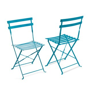 Fennell Folding Patio Dining Chair (Set of 2) by Highland Dunes