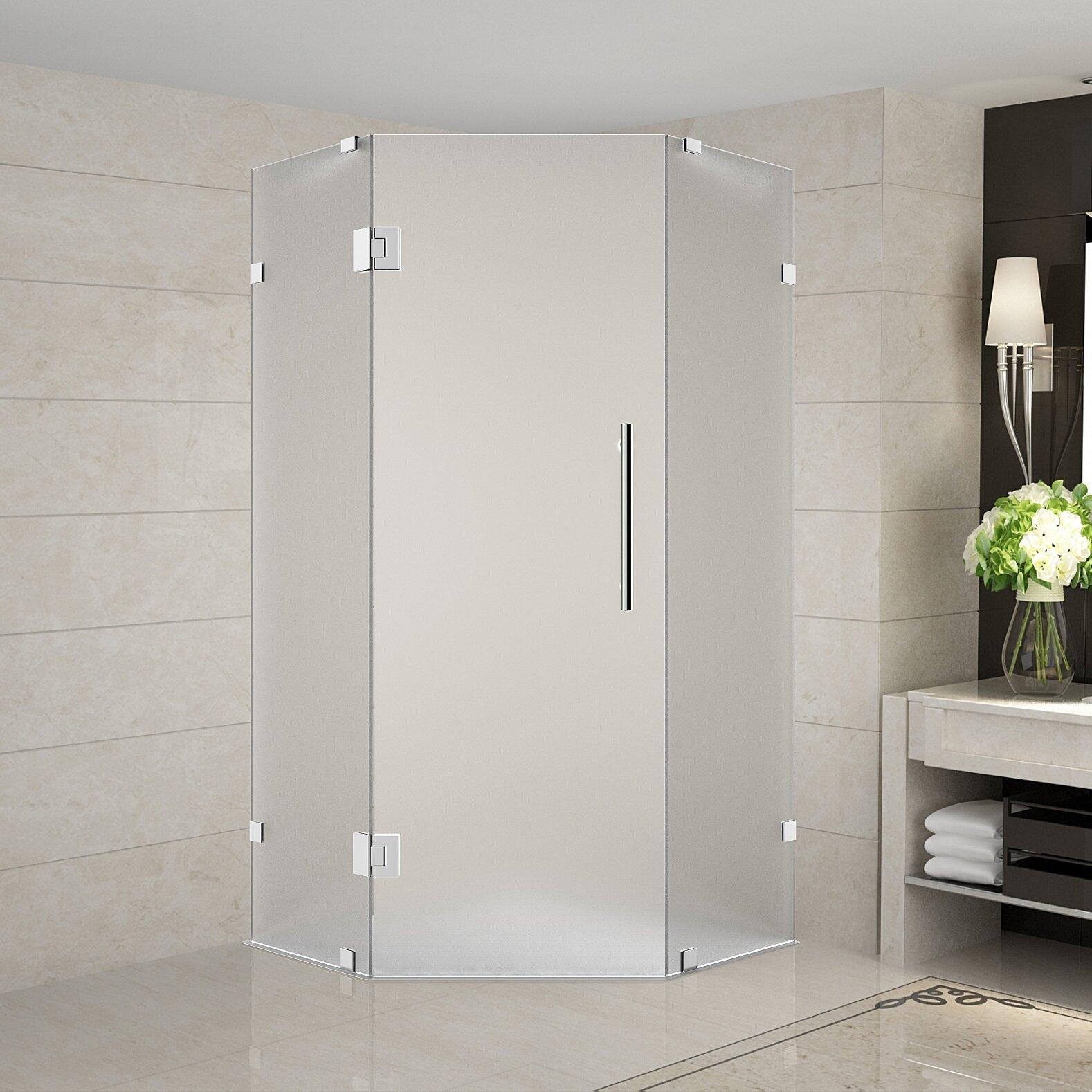 Neoscape 36 X 72 Hinged Frameless Shower Door