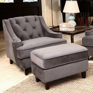 Arwood Arm Chair and Ottoman by Lark Manor