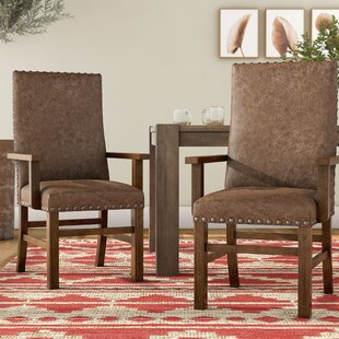Lyons Arm Chair in Almond (Set of 2) by Loon Peak