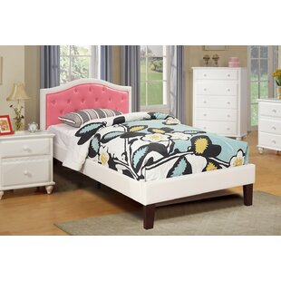 Harriet Bee Baley PU Upholstered Twin Bed Frame