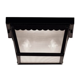August Grove Demartino 2-Light Outdoor Flush Mount