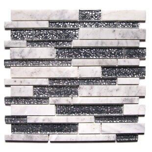 Modern Charcoal Fabrica Random Sized Mixed Mosaic Tile