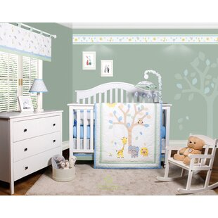 Beazer Safari Jungle Animals 6 Piece Baby Nursery Crib Bedding Set
