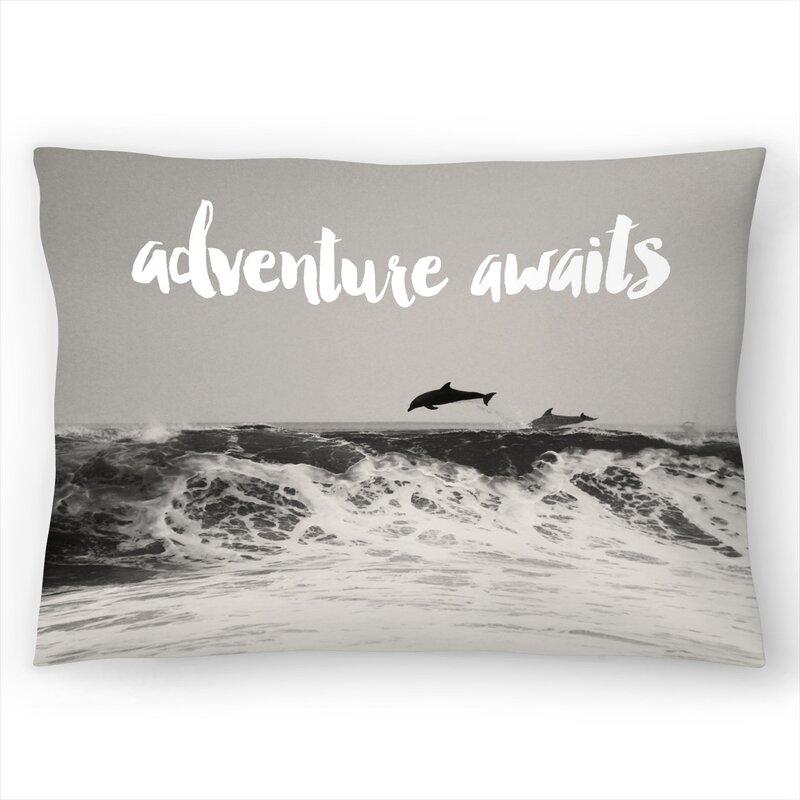 East Urban Home Dolphins Adventure Lumbar Pillow Wayfair
