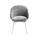 Amara Upholstered Metal Arm Chair in Beige Latte by Interlude