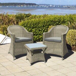 2-Sitzer Loungemöbel-Set Hampton aus Rattan von..