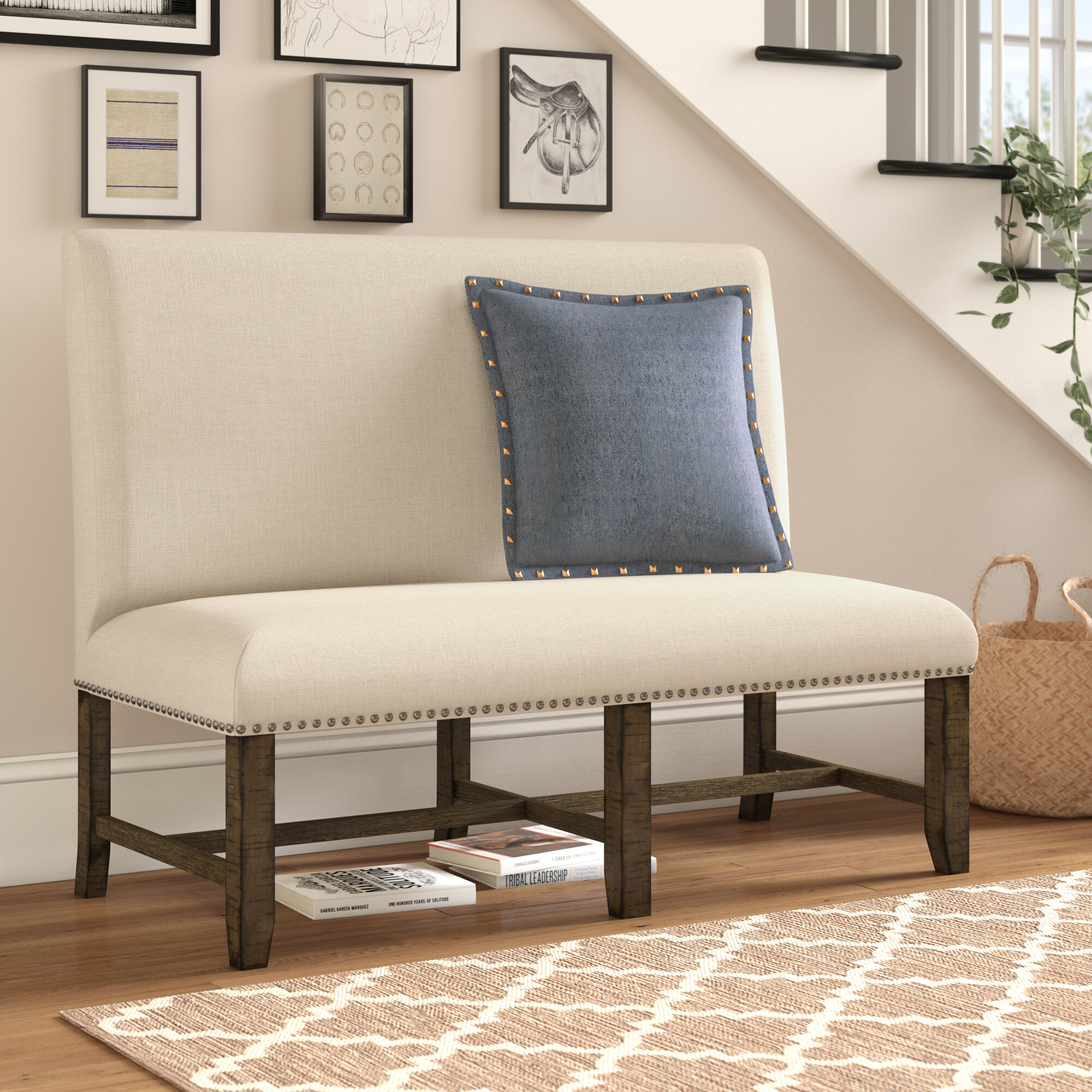 Three Posts Melstone Upholstered Bench Reviews Wayfair