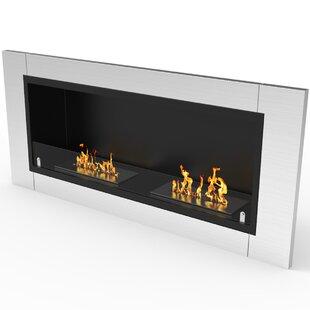 Sheehan Ventless Recessed Bio-Ethanol Fireplace Insert By Orren Ellis