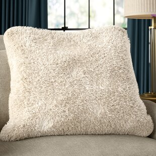 Branchville Faux Fur Throw Pillow