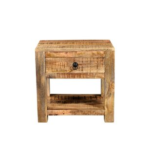 Millwood Pines Thuringowa Mango Wood End Table