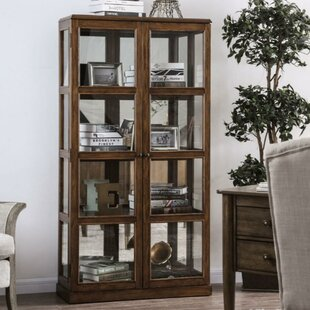 Lechner Transitional Wooden Curio Cabinet