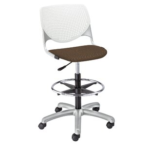Eiland Poly Adjustable Lab Stool with Perforated Back