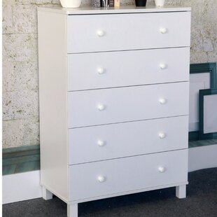 Check Prices Beckner Capacious Gleaming 5 Drawer Chest by Harriet Bee Reviews (2019) & Buyer's Guide