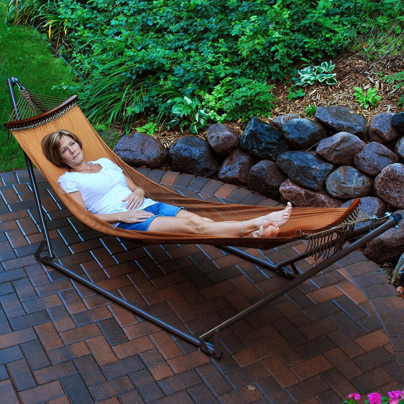 Scotts Valley Portable Nylon Camping Hammock With Stand