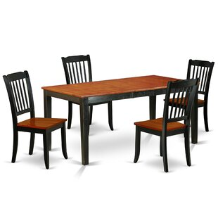 Lafrance 5 Piece Extendable Solid Wood Dining Set