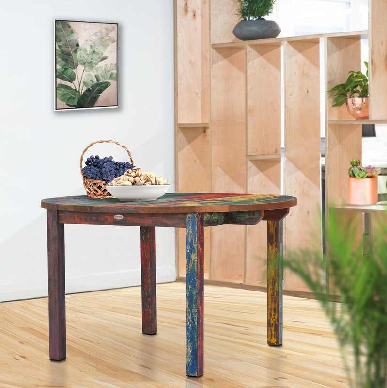 Loon Peak Eleni Solid Wood Dining Table