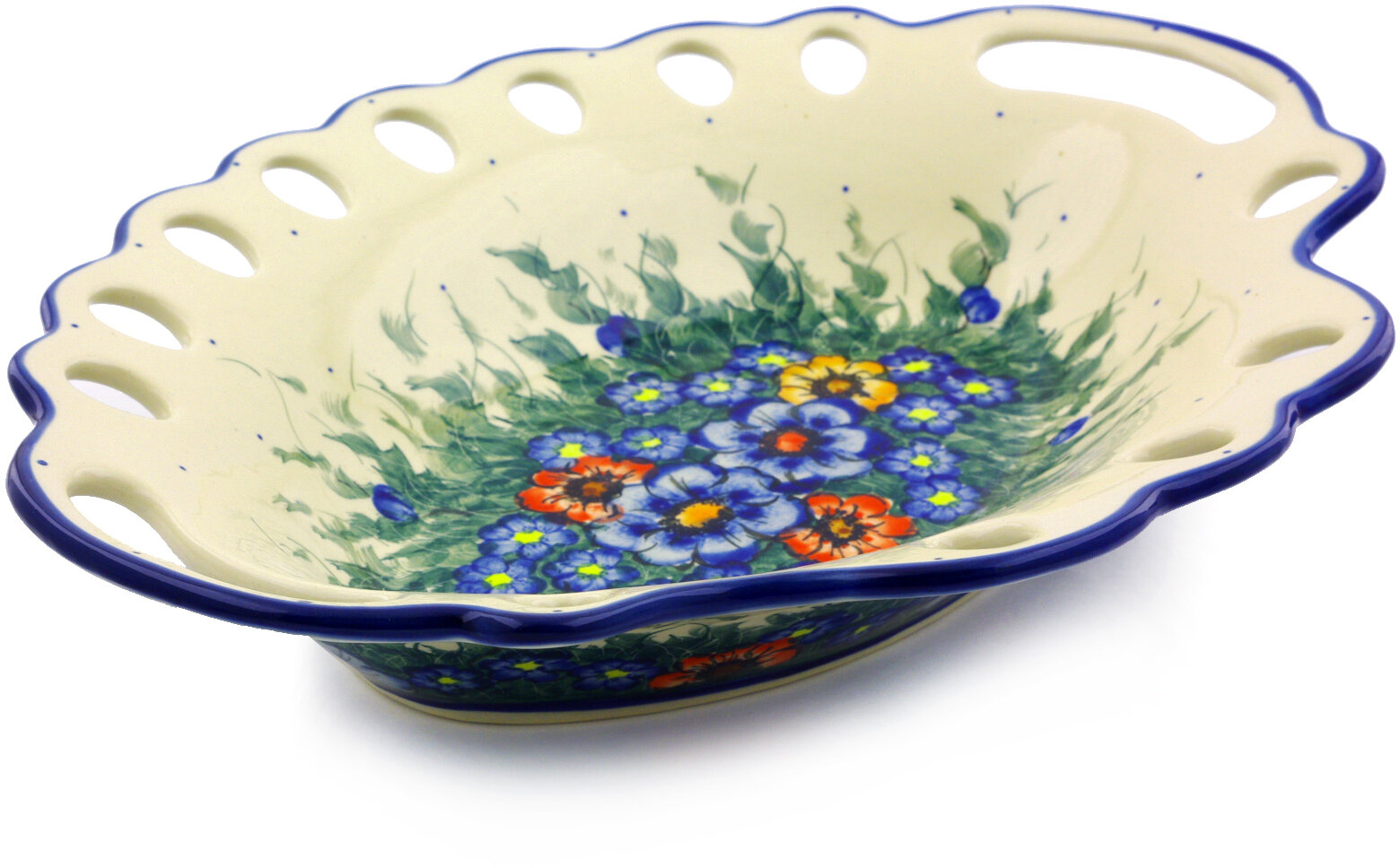 Polmedia Spring Bouquet Serving Bowl With Holes Wayfair