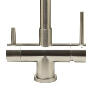Alfi Brand Pull Out Double Handle Kitchen Faucet