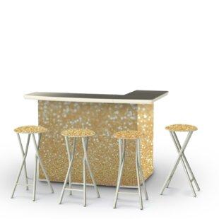 Best of Times Glitter Me Gold 7 Piece Bar Set