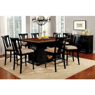 Pitcock Country 9 Piece Pub Table Set
