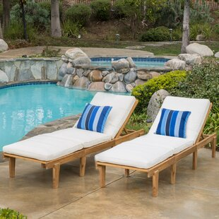 Ardsley Reclining Chaise Lounge With Cushion (Set Of 2)
