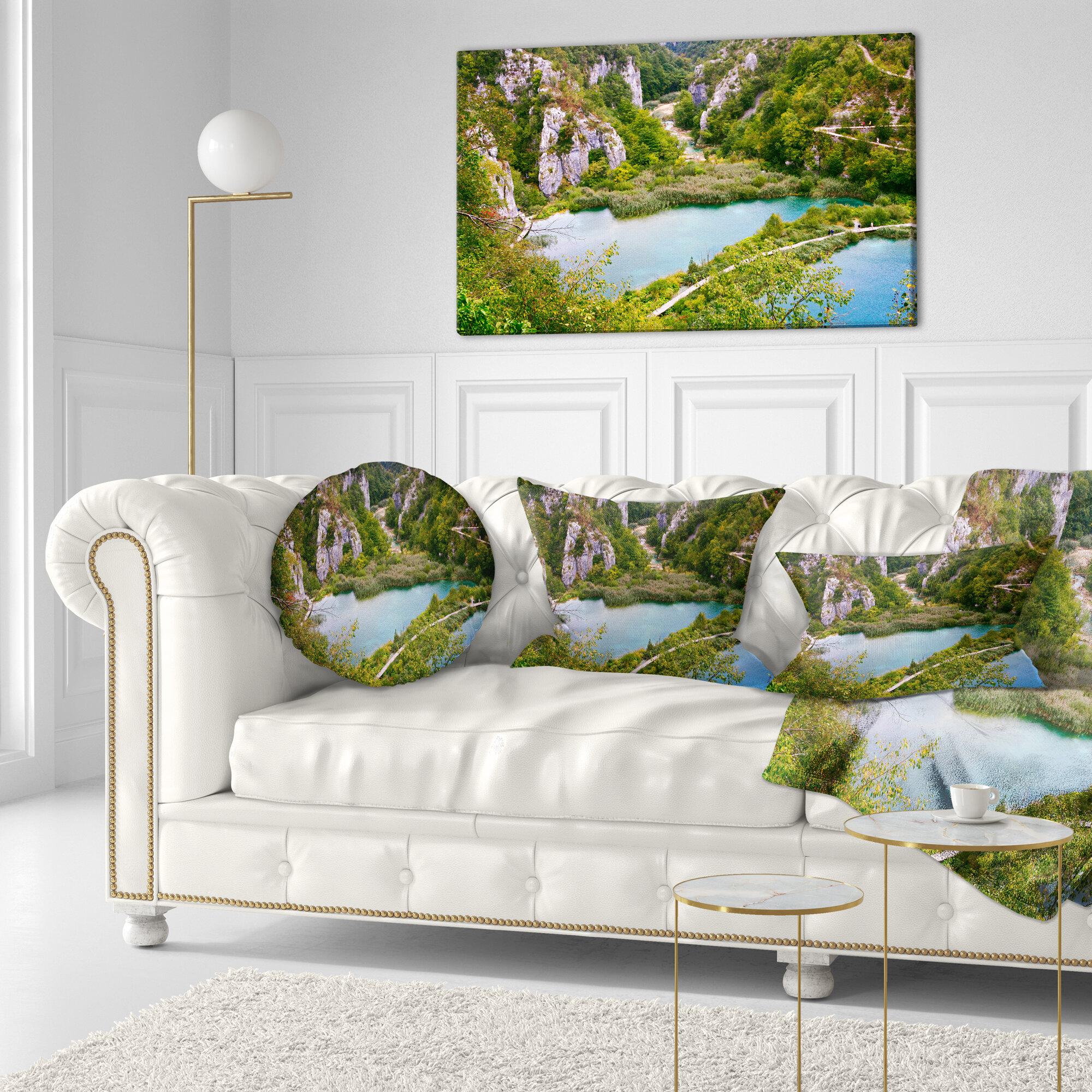 East Urban Home Landscape Photo Plitvice Lakes Long View Lumbar Pillow Wayfair