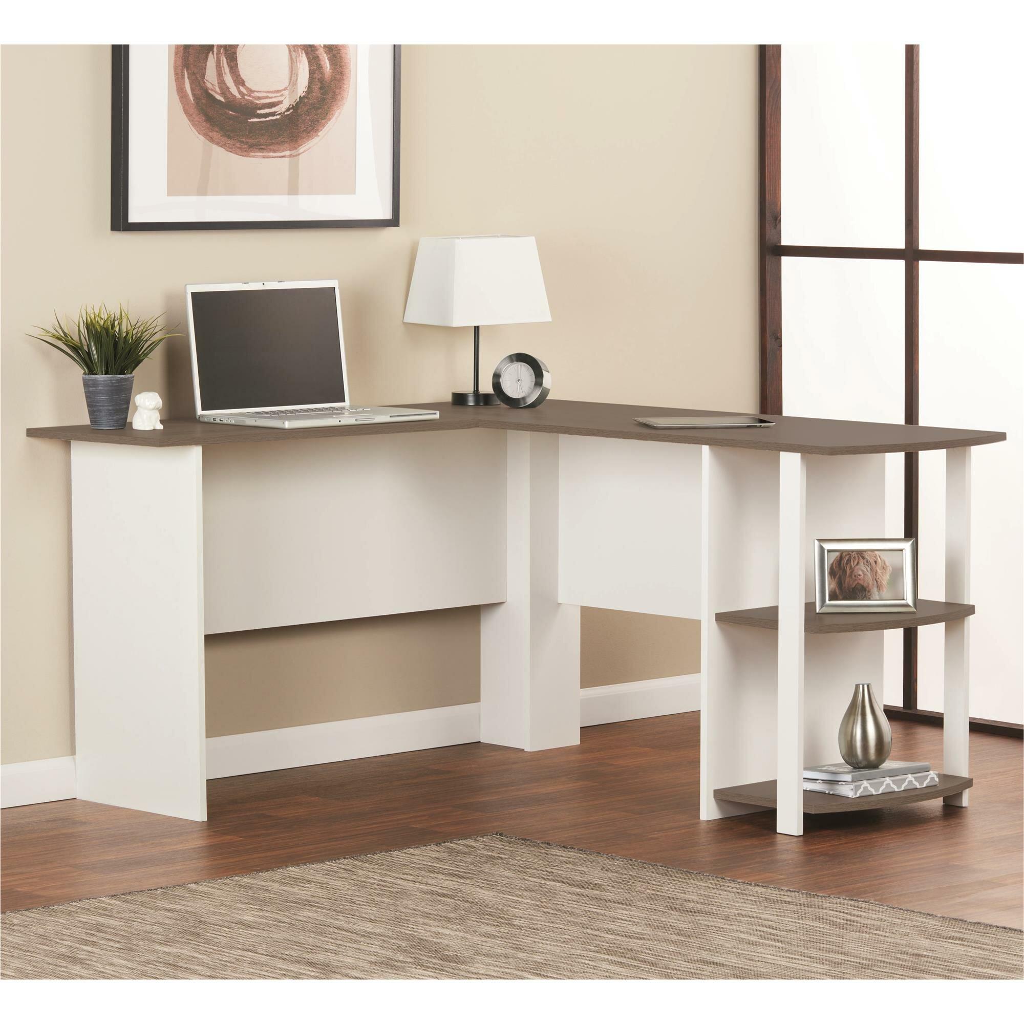 Medium Wood White L Shaped Desks You Ll Love In 2021 Wayfair