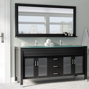Frausto 63 Double Bathroom Vanity Set with Mirror By Brayden Studio