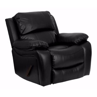 Compare prices Hardnett Leather Manual Rocker Recliner by Red Barrel Studio Reviews (2019) & Buyer's Guide