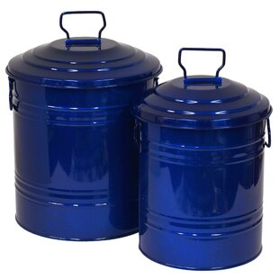 Bexley Enameled Galvanized 2 Piece Canister Set by Darby Home Co Cool