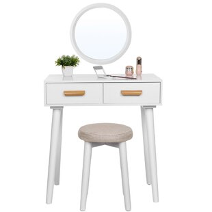 Augustine Modern Dressing Table Set With Mirror