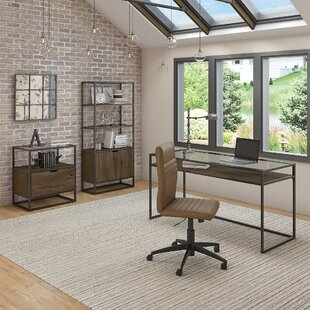 Alcantar Desk, Bookcase and Filing Cabinet Set