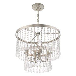 Loyce 4-Light Crystal Chandelier by House..