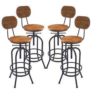 Poitras Adjustable Height Swivel Bar Stool (Set of 4) by Gracie Oaks