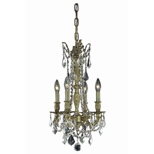 Astoria Grand Utica 4-Light Candle Style Chandelier