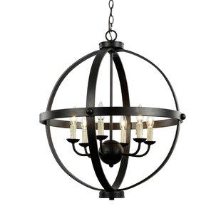 TransGlobe Lighting Old World Sphere 6-Light Pendant